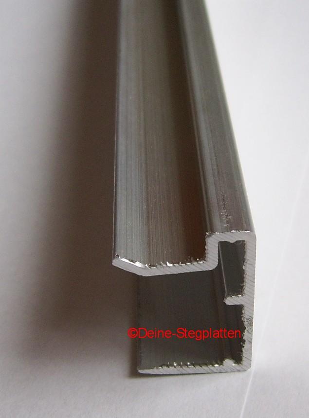t abschlussprofil f r 16 mm stegplatten l nge 2100 mm alu ebay. Black Bedroom Furniture Sets. Home Design Ideas