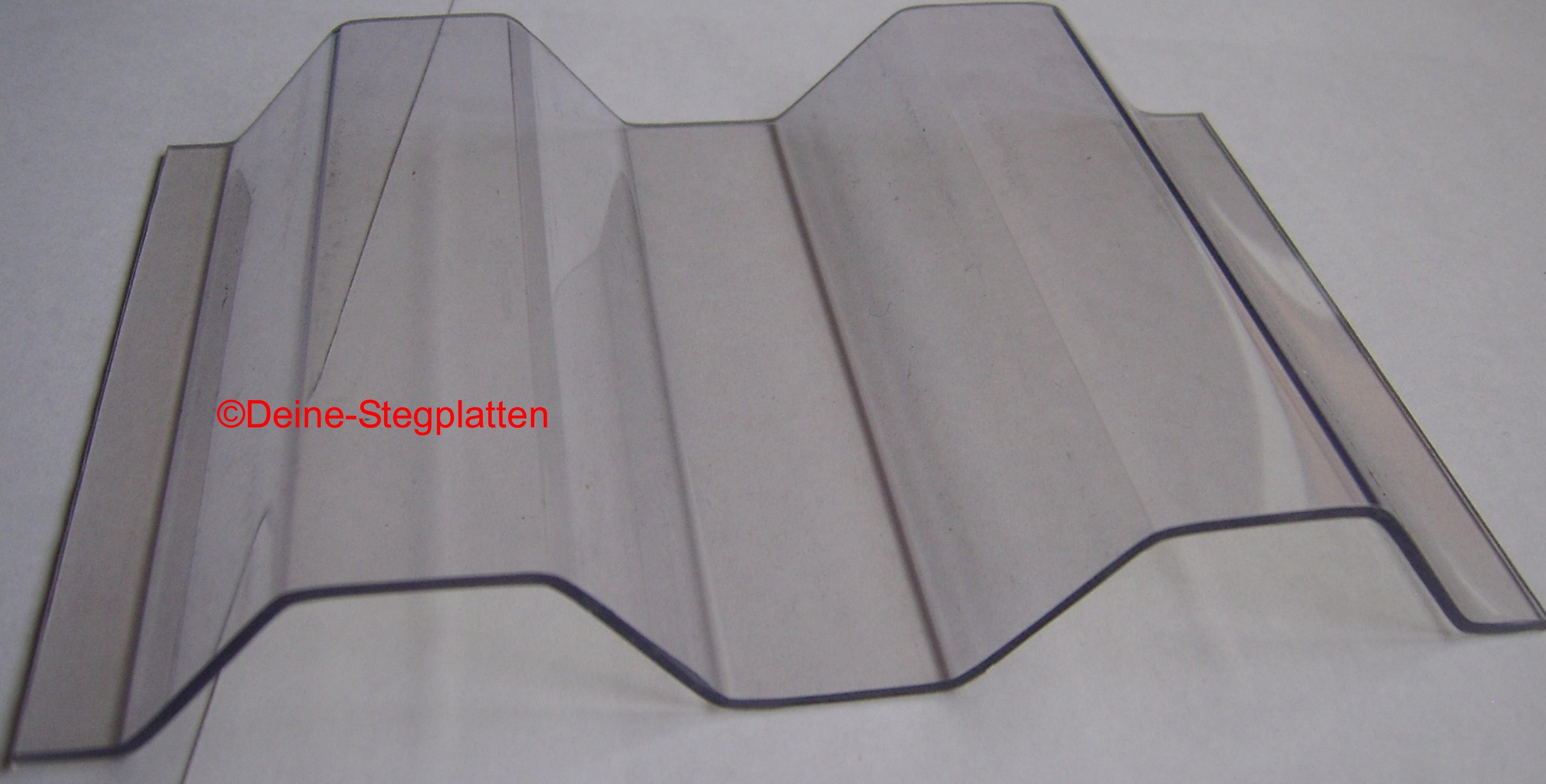 wellplatten aus polycarbonat k76 18 trapezwelle hagelfest glasklar ebay. Black Bedroom Furniture Sets. Home Design Ideas